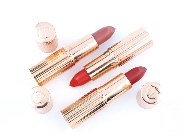 """Charlotte Tilbury K.I.S.S.I.N.G Lipsticks in """"Stoned Rose"""", """"Love Bite"""" & """"So Marilyn"""": Review and Swatches"""