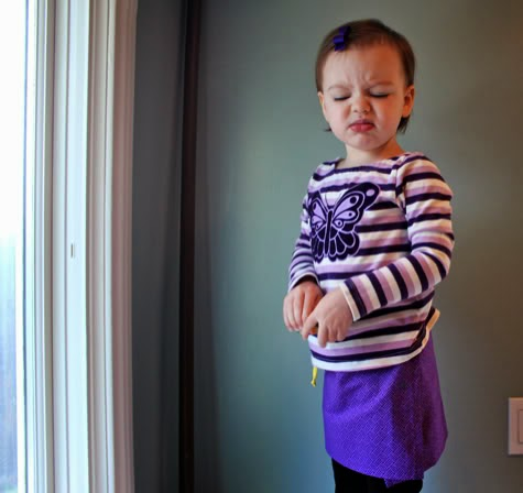 small kid wrap skirt sewing  tutorial