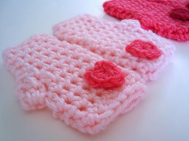 free crochet pattern valentine fingerless gloves