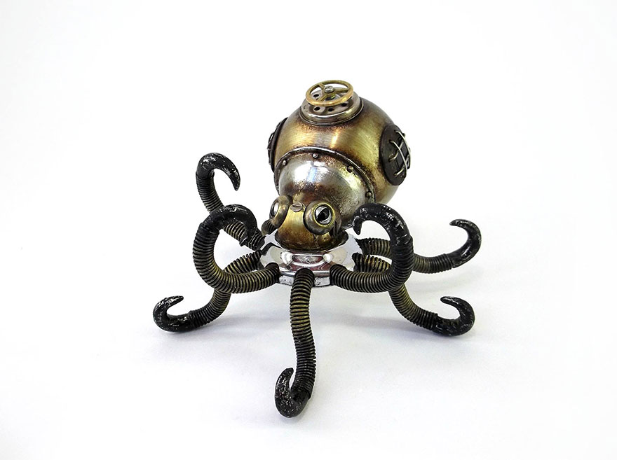 octopus-spider-steampunk-animal-sculptures-igor-verniy-5