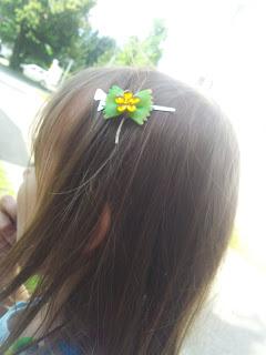 Haarspange aus Nudeln