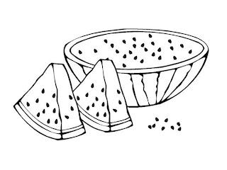 Riscos para pintura de frutas