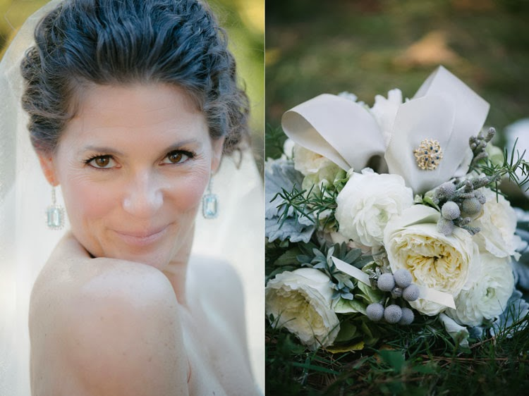 bride glancing at camera with her shoulders facing away from camera