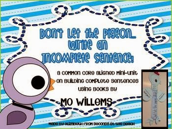 http://www.teacherspayteachers.com/Product/Common-Core-Building-Complete-Sentences-Mini-Unit-with-Pigeon-by-Mo-Willems-917352