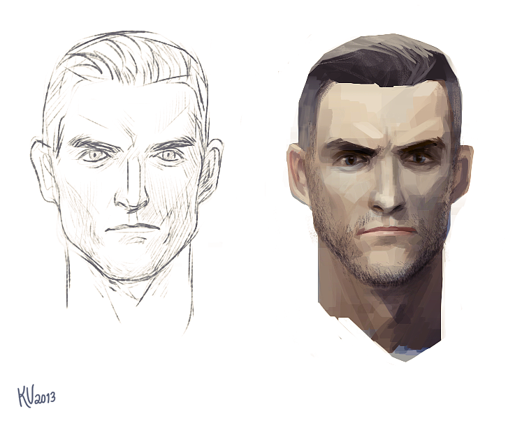 #male #character #concept #head #painting #art #illustration