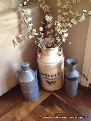 Our adventures in home improvement aging an old milk can for Old milk can decorating ideas