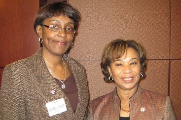 Photo Credit - ROJS Media, LLC IURL Host/Executive Producer Monica RW and Congresswoman Barbara Lee (D-CA)