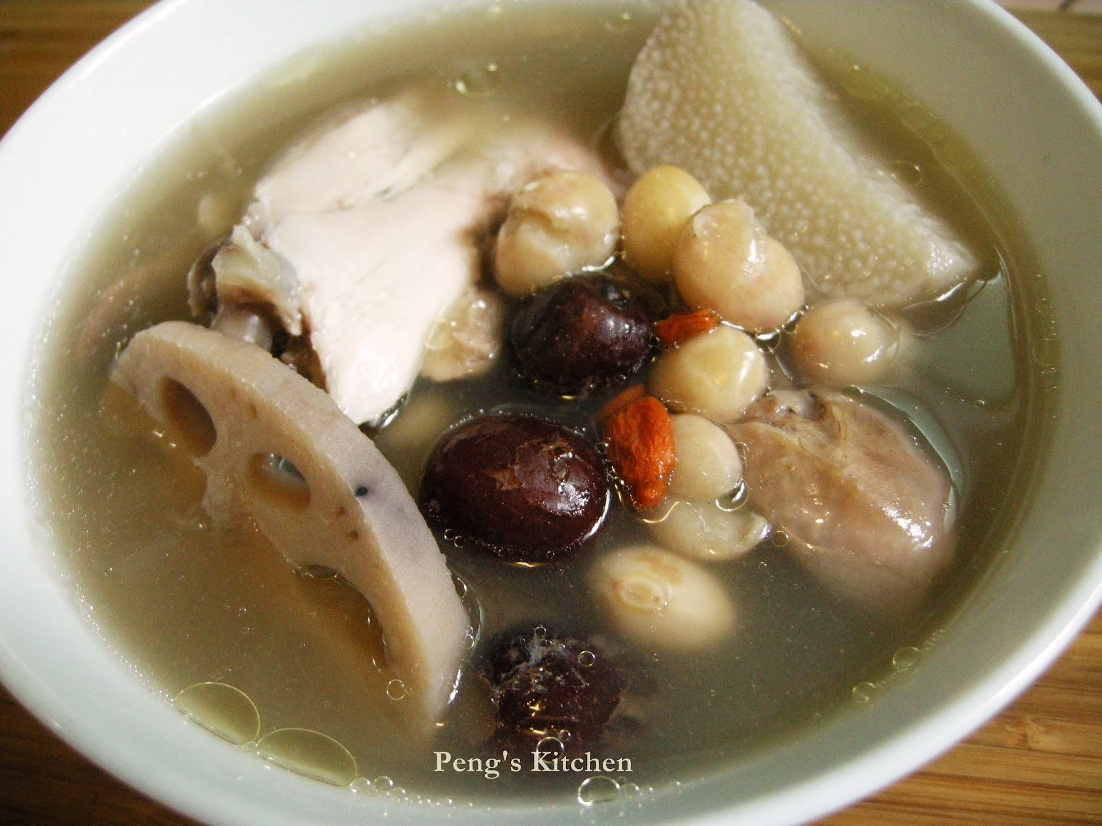 peng s kitchen cranberry bean lotus roots huai shan soup