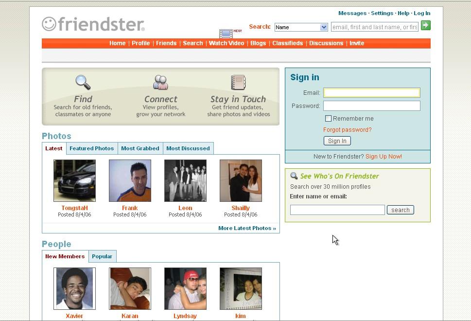 Friendster 2006