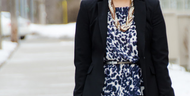 fitted blazer, Banana Republic, statement necklace, Elizabeth and James shoes, cropped pants, J.Crew Minnie