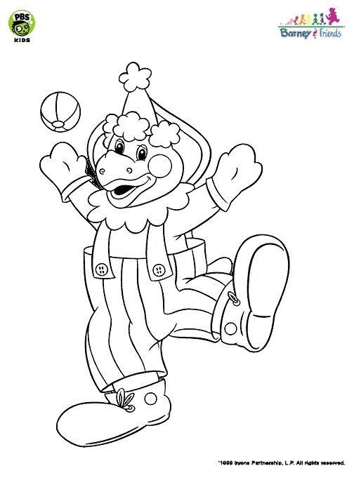 a desenhar boneco barney e amigos  colorir