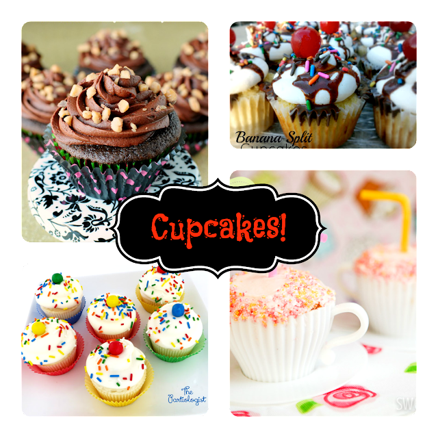 cupcakes; cake, cake decorating; birthday cake