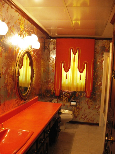 Modern house orange bathroom in modern designs - Orange bathroom decorating ideas ...