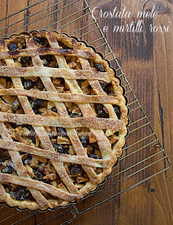 Apples and cranberry tart  - recipe