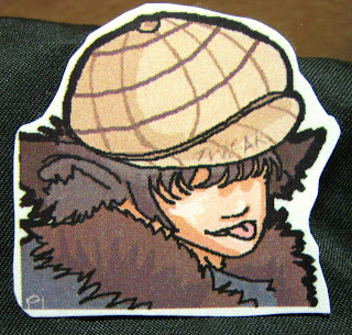 neko anime burberry hat sticker digital art