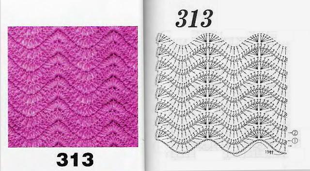 Вязание волны и зигзаги 131