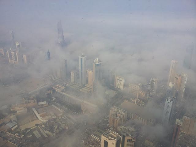 الضباب في الكويت يوم 21-01-2013