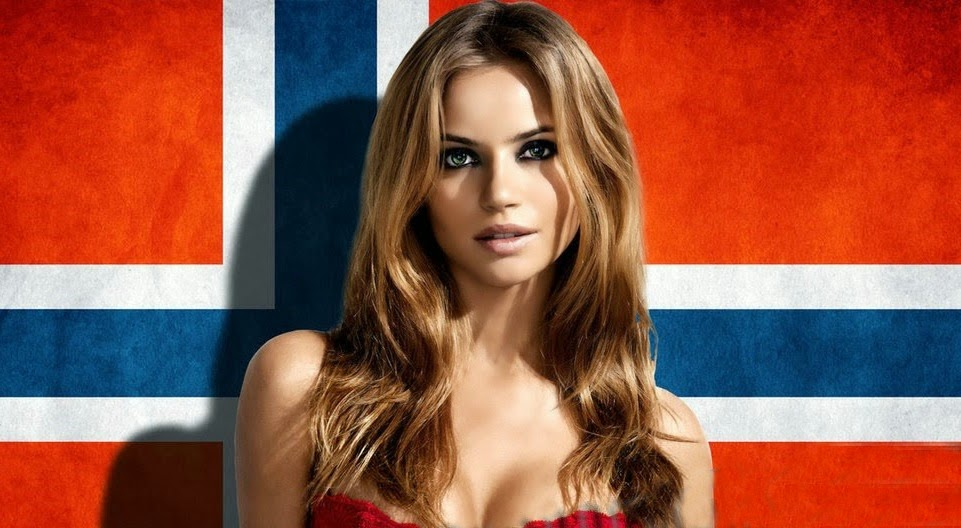 Pretty norwegian women