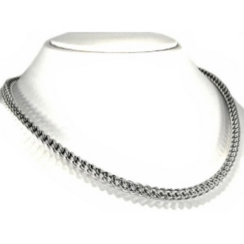 mens white gold necklace