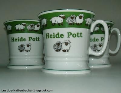 Kaffebecher mit Schafen