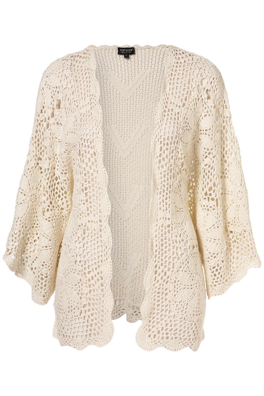 Hand Crochet Flower Kimono - Topshop
