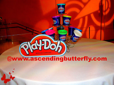 Play-Doh Table Centerpiece at Hasbro Toy Fair 2013 Event in New York City