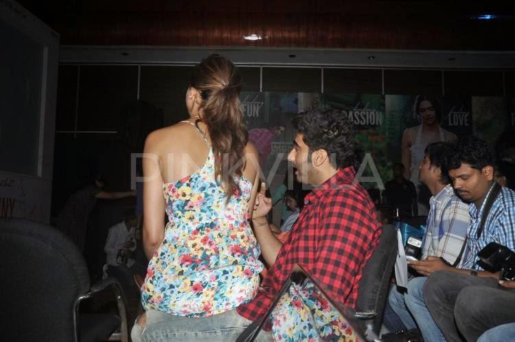 Deepika sitting on arjun lap
