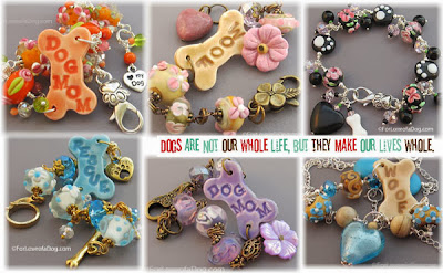 Dog Mom Dog Bone Dog Rescue Jewelry Bracelets at For Love of a dog