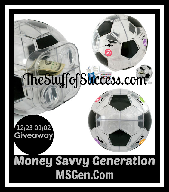 Enter to win the Money Savvy Soccer Ball Giveaway. Ends 1/2/14.
