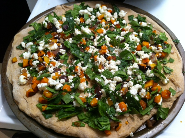 Lara's Tone It Up Blog: Butternut squash, spinach and goat ...