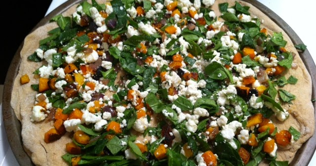 ... Tone It Up Blog: Butternut squash, spinach and goat cheese pizza