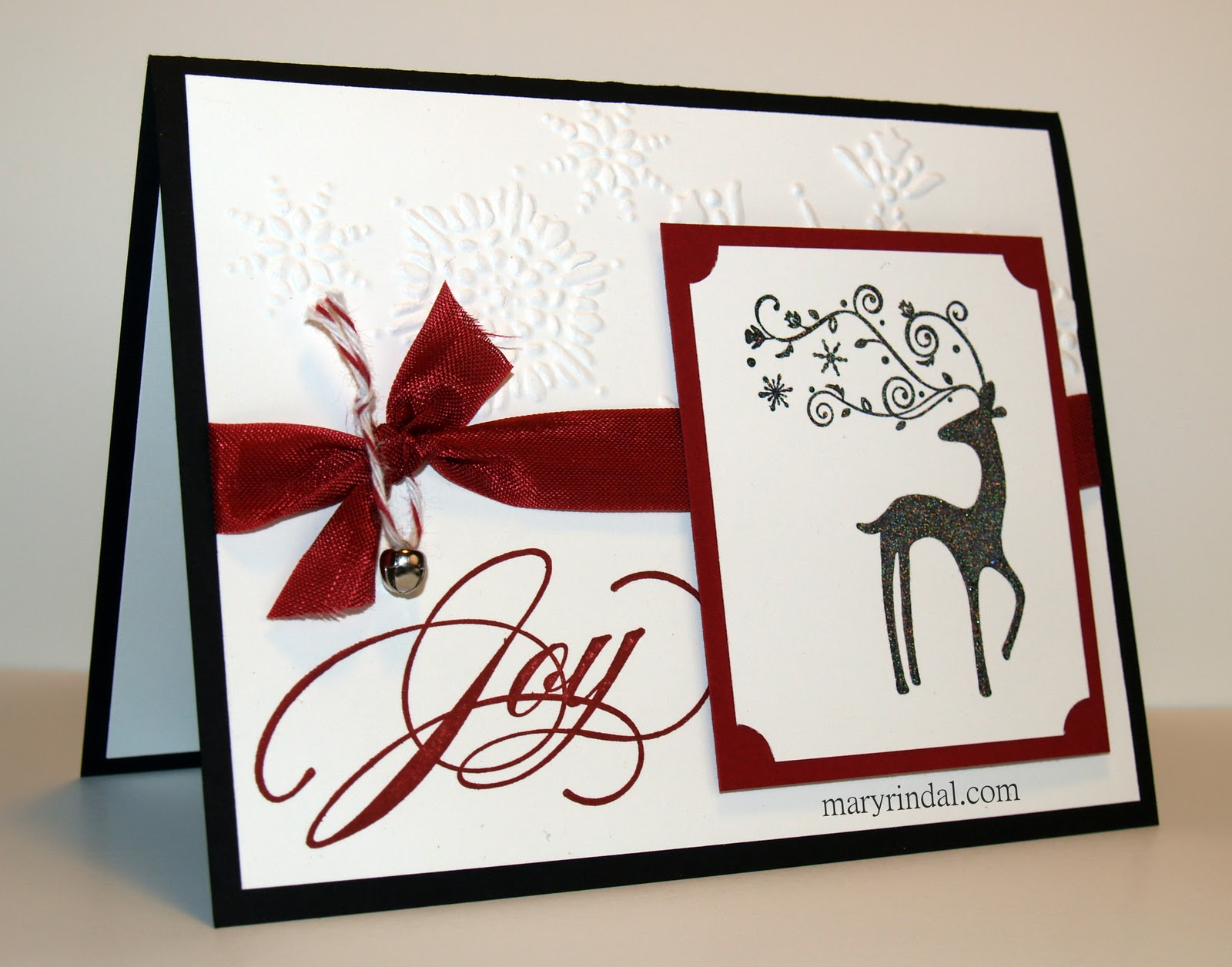 scrap and stamp with mary christmas card sparkling dasher