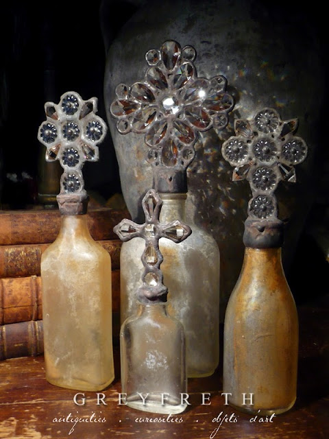 Greyfreth Cross Bottles by Isabeau Grey, copyright Isabeau Grey Inc, all rights reserved