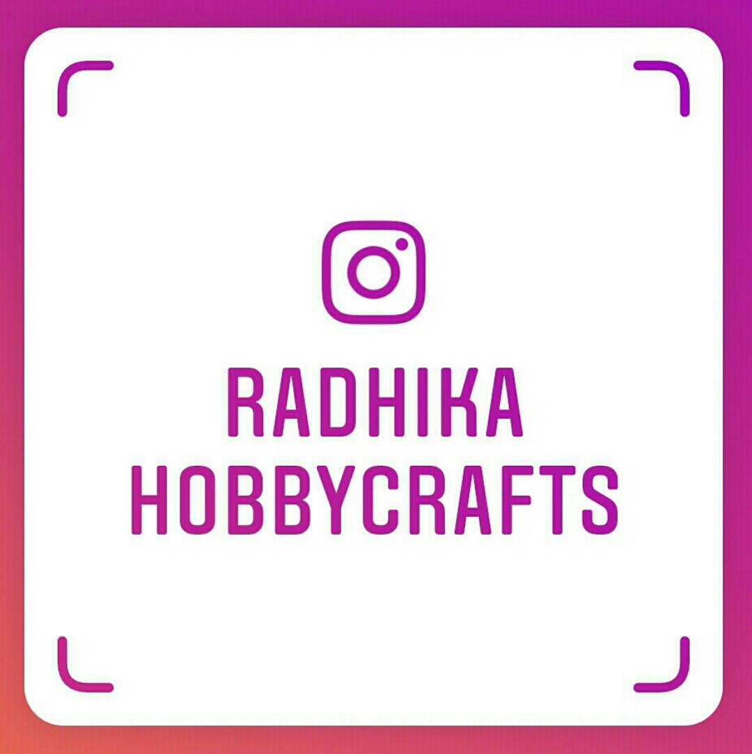 My instagram  @radhikahobbycrafts