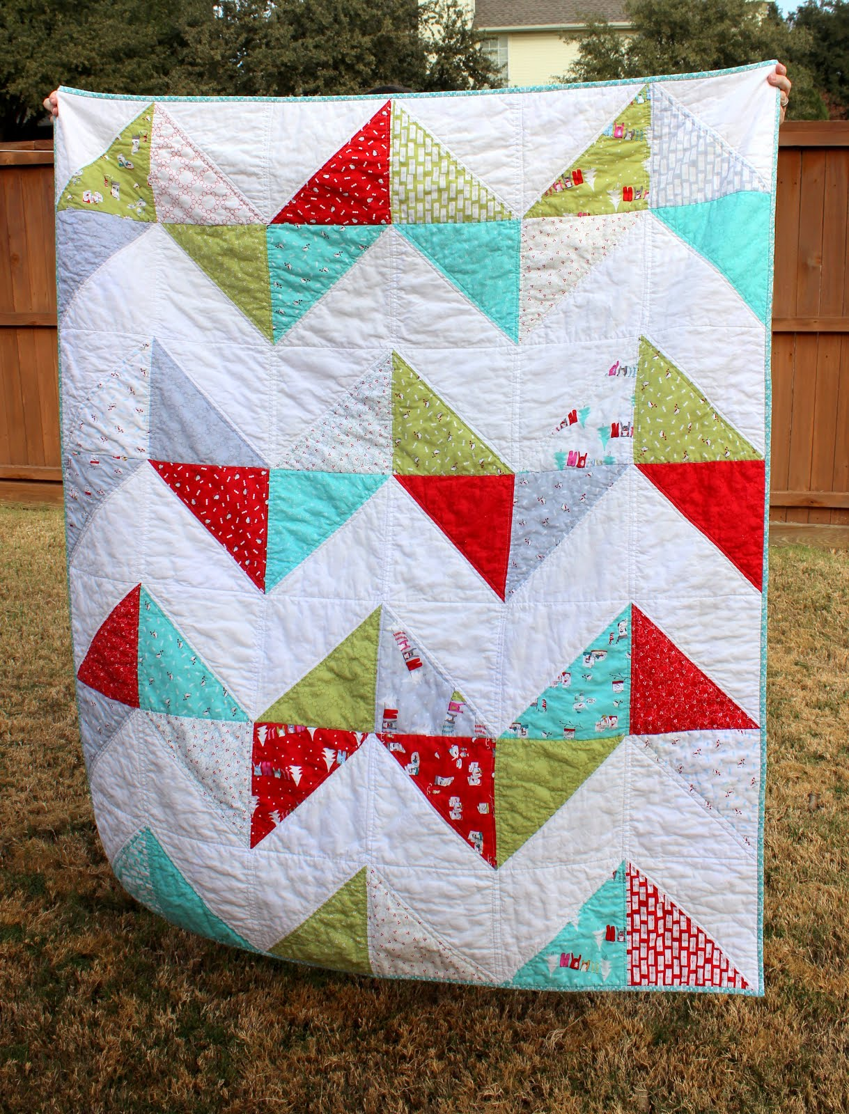 my fabric relish: easy peasy chevron quilt