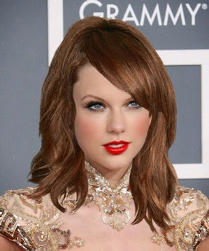 Taylor Swift Brunette Hair