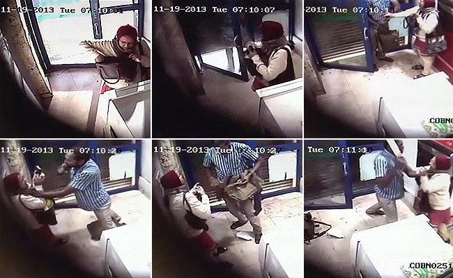 (CCTV 18+ / DEWASA) MODUS PERAMPOKAN DI ATM (BERHATI-HATILAH) - BENGALORE: INDIA