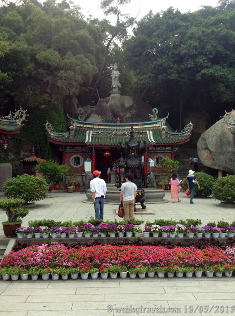 Chinese goddess in Xiamen temple