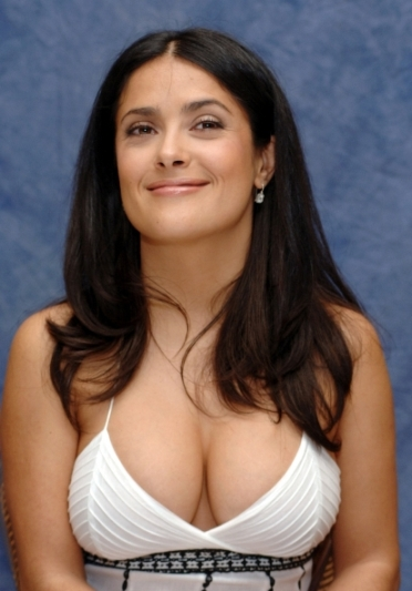 Hollywood celebrity with Sexiest Breast Salma Hayek