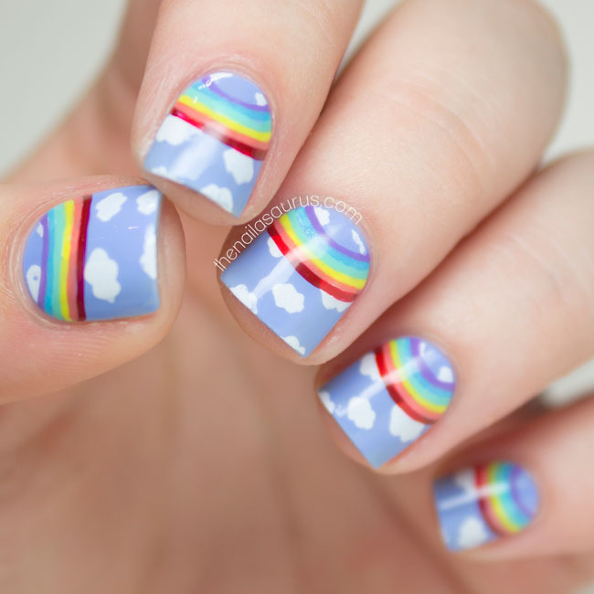 Rainbow Half Moon Nail Art // The Nailasaurus ... - 31 Day Challenge: Rainbow Nails - The Nailasaurus UK Nail Art Blog