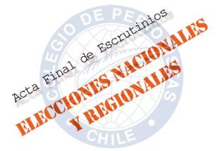 Acta Final - Escrutinios 2014
