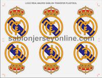 sablon plastisol transfer logo real madrid - sablon jersey online