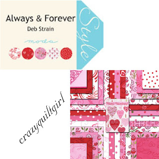Moda ALWAYS & FOREVER Valentine's Day Fabric by Deb Strain