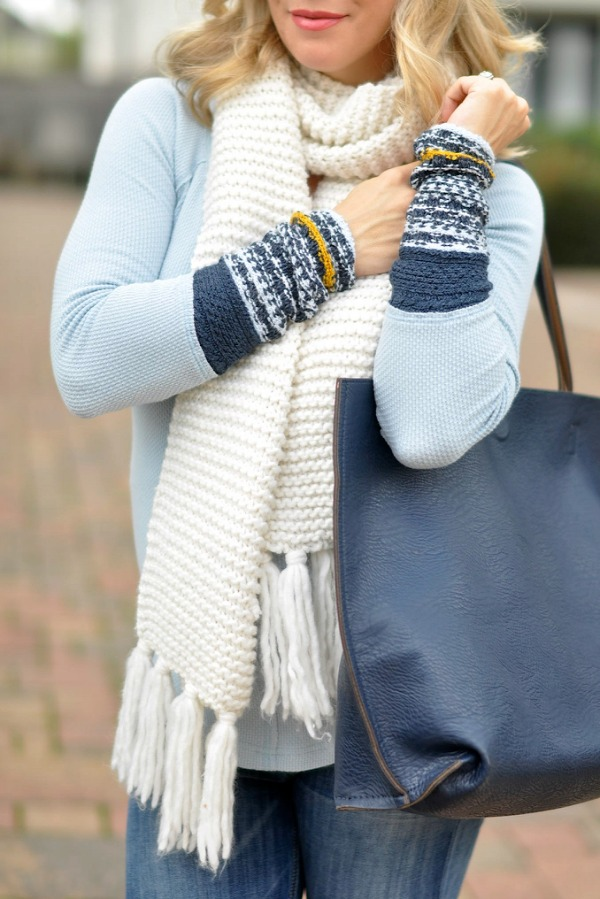 Fall/Winter fashion - Free People ski lodge cuff thermal top - so cozy!