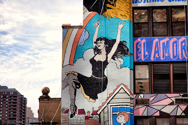 Street Art By Faile On The Streets Of New York City, USA detials 2