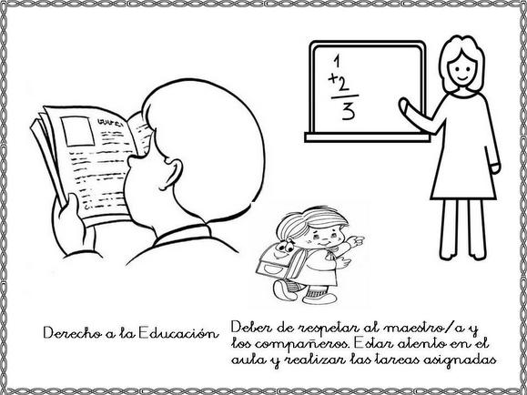 Dibujos para colorear sobre derechos y obligaciones de los niños ...