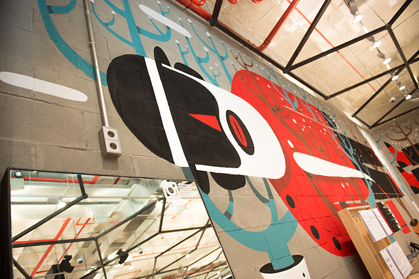 the petticoat urban outfitters generator hostels barcelona opening agostino iacurci mural
