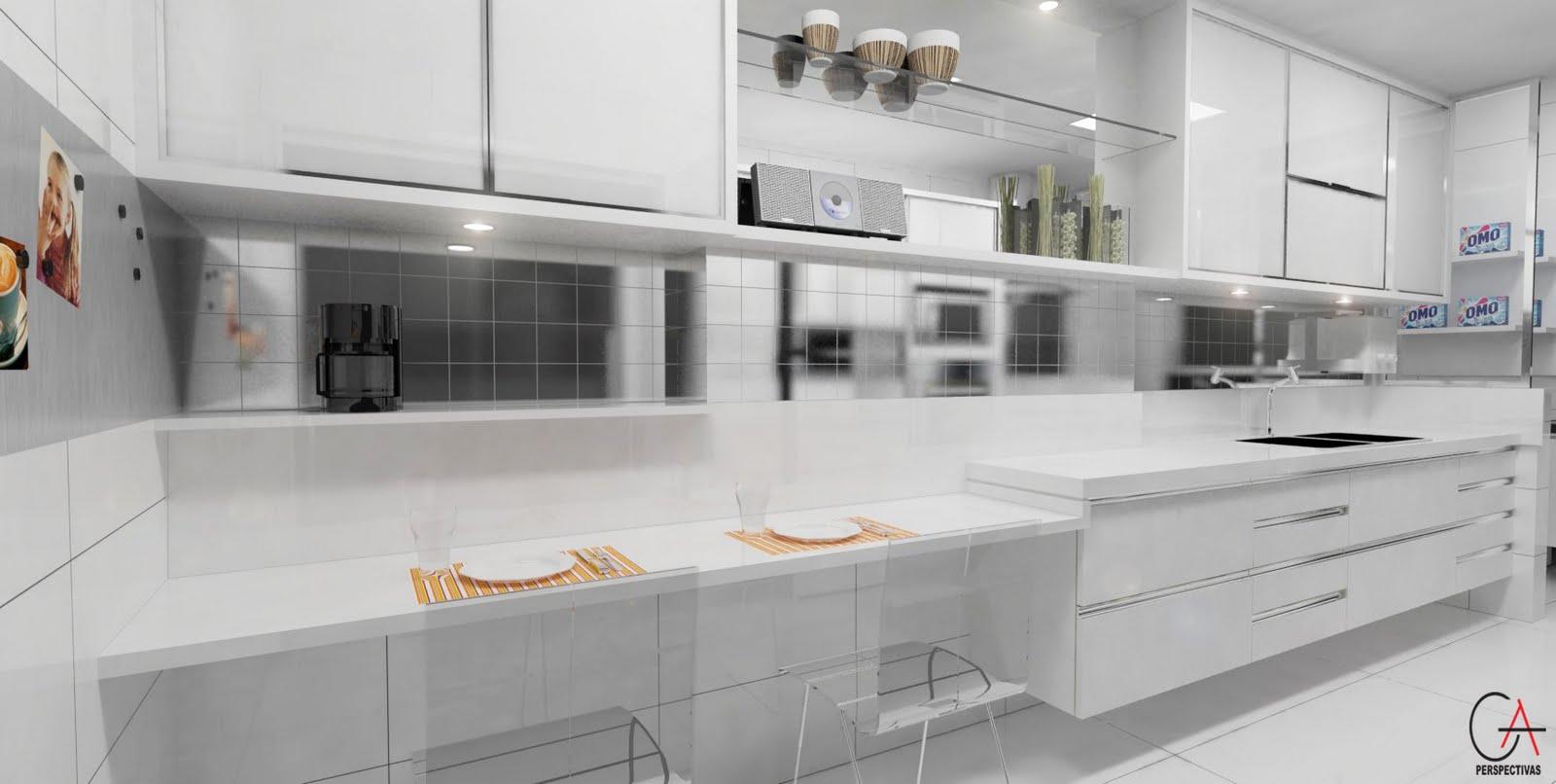 #9B6A30 GA Perspectivas: Cozinha Clean 1600x806 px A Cozinha Mais Recente Projeta Fotos_836 Imagens
