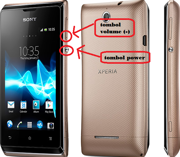 Cara Mengambil ScreenShot Layar HP Android Xperia e Dual
