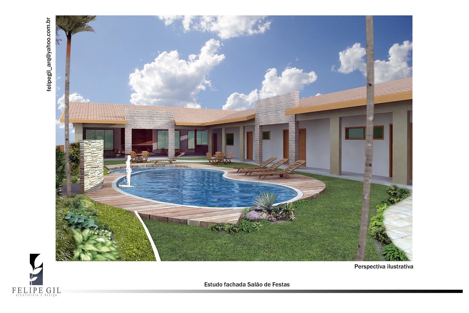 CasaEco Arquitetura e Design: Projeto Salão de Festas #3E5E8D 1600 1067